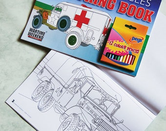 Military Vehicle Colouring Book