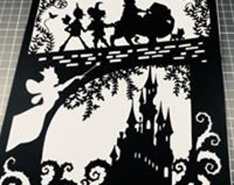 Wizard Of Oz Papercut Art Work - Cut By Hand From A Single Sheet Of Paper
