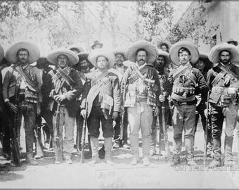Poster, Many Sizes Available; Pancho Villa And Staff