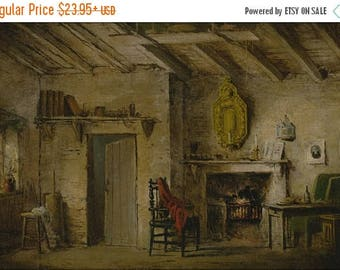 40% OFF SALE Poster, Many Sizes Available; Alexander Nasmyth Stage Design For Heart Of Midlothian; Deans' Cottage