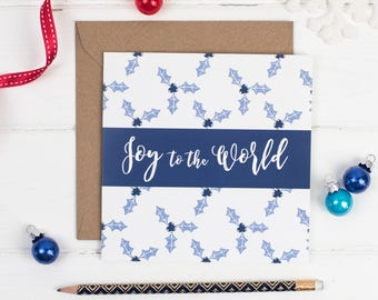 Joy to the World Christmas Card - Christmas Card Sets -  Christian card - Christian Gifts UK