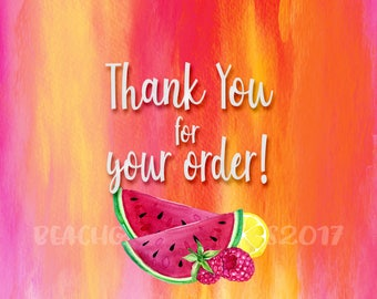 Thank You for Your Order - Summer Sunrise
