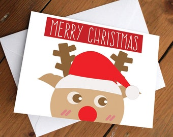 REINDEER - xmas edition // christmas, holidays, festive, greeting cards, rudolph the red nose reindeer, present, love