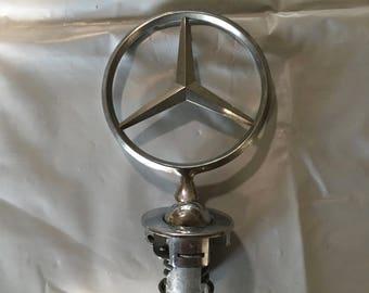 Mercedes Benz classic plug in hood ornament.