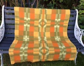 Vintage wool blanket c1960s / 1970s