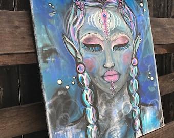 """Oceanic Goddess ,16x20"""""""