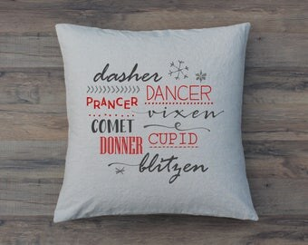 All of the Other Reindeer 20 x 20 Pillow Cover // Throw // Accent // Quote // Christmas // Holiday // Santa