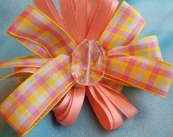 Blush hush bow