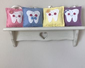 Small tooth fairy felt pillows
