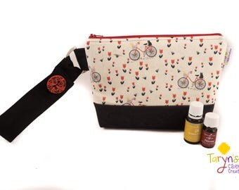 Essential Oil Bag, Bicycle Cosmetic Case, Young Living Oil Case, doTerra Carry Bag, Essential Oil Travel Storage, Makeup Case, Toiletry kit