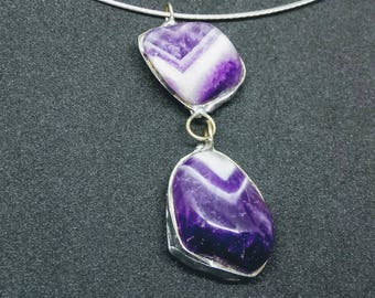 Handmade amethyst pendant
