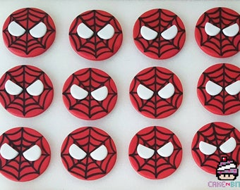 Spiderman fondant cupcake toppers