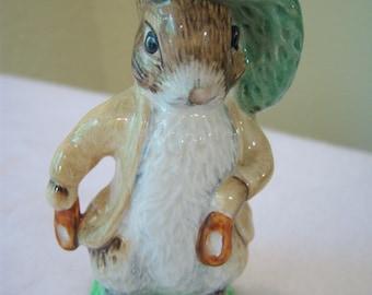 Benjamin Bunny,Beatrix Potter,1948,F. Warne Co Ltd,Beswick England,porcelain figurine,children's story,collectible figurine,nursery decor