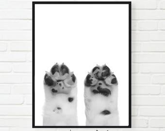 Animal Dogs Paws Peekaboo Print, Dog Print, Animal Art, Animal Print, Dog Paws Poster, Nursery Wall Art,Puppy Paw Print, Dog Paws Decor,