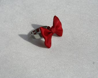 Red bow tie Adjustable ring