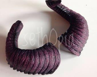 Plum purple Devil horns