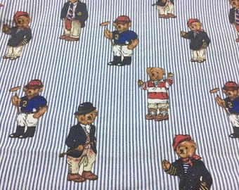 RALPH LAUREN Twin Flat Sheet / Ralph Lauren Bears