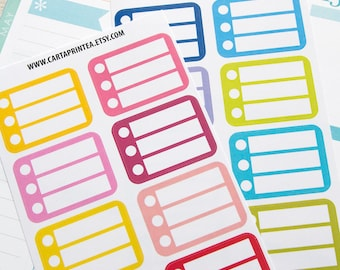 16 half box to do stickers, plan stickers, daily chores stickers, planner stickers, organizer stickers, stickers checklist