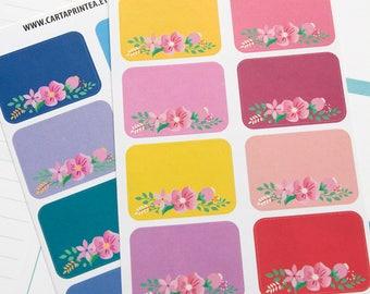 16 half box stickers, to do list stickers, floral planner stickers, checklist stickers, list reminder, eclp filofax happy planner kikkik