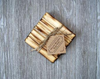Soap dish wood, Soap dish drain,  Wooden Soap Dish, Soap saver, soap rack, ShackontheRock