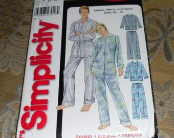 It's So Easy Simplicity Pattern #5389 Pajamas Size XS-XL Uncut and Unused