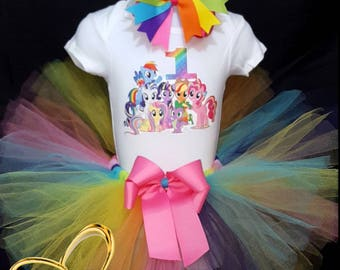 ON SALE My little pony Tutu outfit, my little pony Tutu, my little pony Tutu dress, my little pony dress, my little pony birthday Tutu,