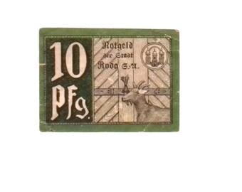 1920 Germany RODA 10 Phennig Notgeld / Banknote
