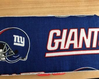 New York giants baby wipe case