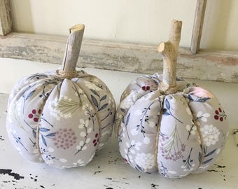 Set of 2 /Pumpkin / fabric pumpkin / stuffed fabric pumpkin / fall decor / pumpkins /pumpkin / fall / fabric stuffed pumpkin / home decor