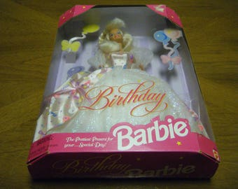 NIB Birthday BARBIE 1996 Mattel Doll