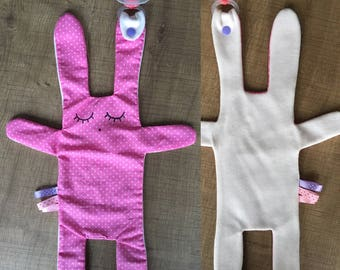 The toy ecru and pink dots