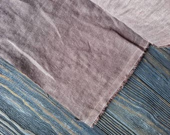 Washed mocha brown linen fabric by the meter, natural linen light brown prewashed linen fabric by the yard 7oz 200GSM tissu au metre