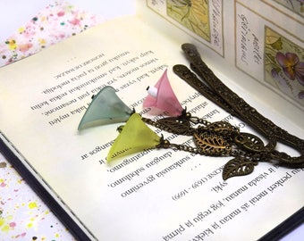 Calla lily bookmark - Special bookmark for book lover - Bookmark with flower - Floral bookmark - Metal bookmark for reading - Small bookmark