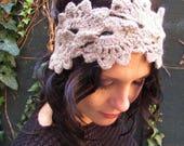 "**DESTOCK** Headband ou bandeau ""Sweet wool"" au crochet"