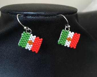 Mexican flag earrings