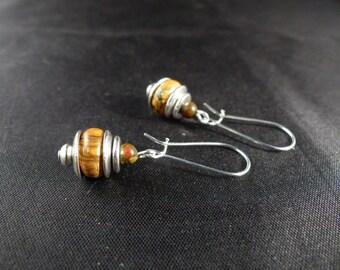 Retro earrings ~'~ Picasso stones ~' ~