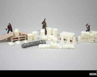 Accessories Kit for urban Zombicide, The Walking Dead, Bolt Action Games