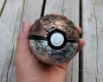 Altered Copper Steampunk Industrial Pokeball for Cosplay or Decor