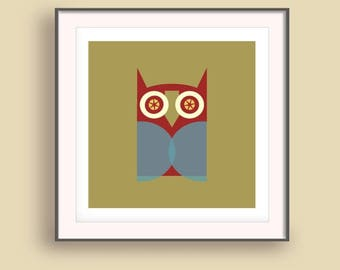 Wise owl print, Wise owl art print, Apartment decorating, Owl art poster, Wise owl print art, Owl poster art, Gift for bestfriend