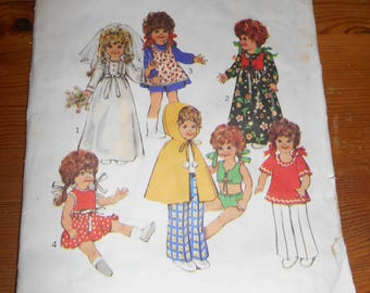 Doll Clothes Pattern, Vintage Sewing.
