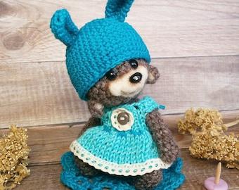 Artist miniature crochet bear doll  by Zanina Julia