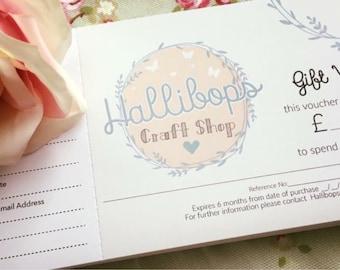 Hallibops Craft Shop Goft Vouchers