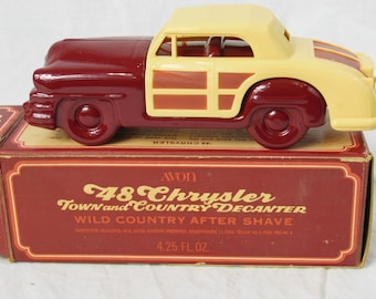 Vintage Avon Wild Country After Shave 1948 Chrysler Decanter, Wild Country After Shave