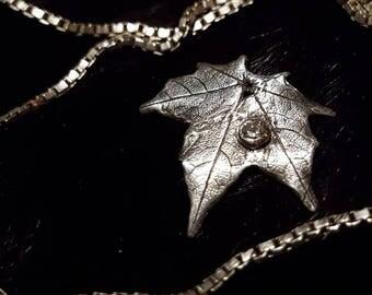 Silverlöv Lönn (finsilver 999, nickelfritt)