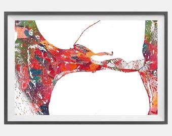 Inner ear Histology Watercolor Print anatomy art Cochlea Histology Vestibular System Structure Cochlea Histology Art Audiology Wall Decor