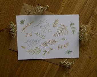 Green Plants - Greeting Card