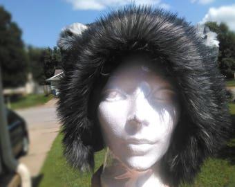 Fluffy Grey Winter Wolf Ears Hat