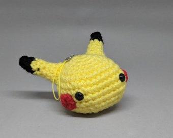 Crochet Pikachu Keychain