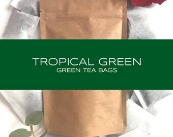 Tropical Green  Blended Tea Bags