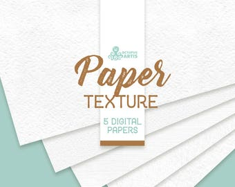 Paper Textures. 5 digital papers, 12x12in, resources, clipart, white, background, backdrop, pattern, jpg, diy